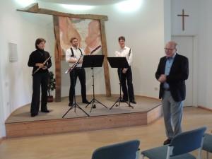 Undine Röhner-Stolle (Oboe), Fabian Dir (Klarinette) und Philipp Zeller (Fagott) Foto Copyright Dresdner Philharmonie