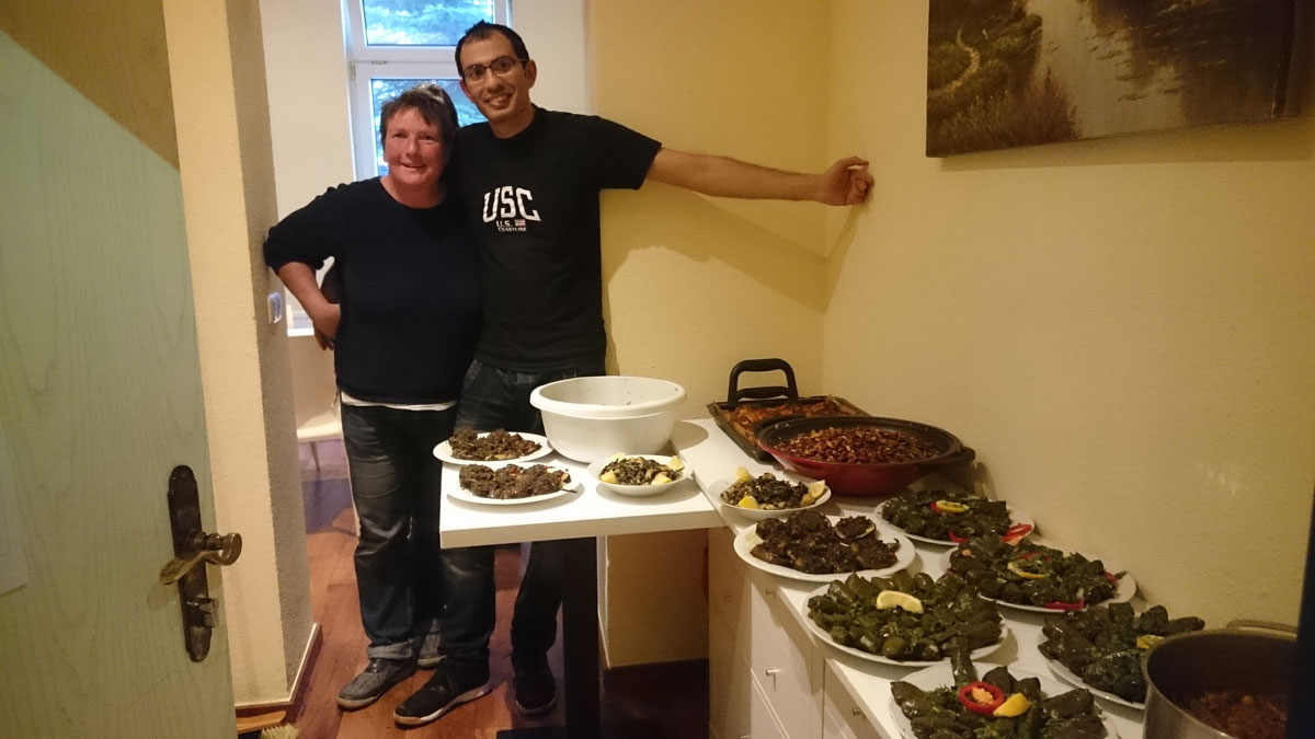 Angela und Chefkoch Adel